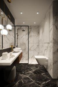 Projekt łazienki klasycznej