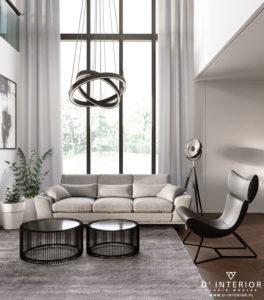 Projekt klasycznego salonu