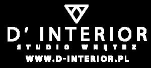 logo strony d-interior w kolorze bieli
