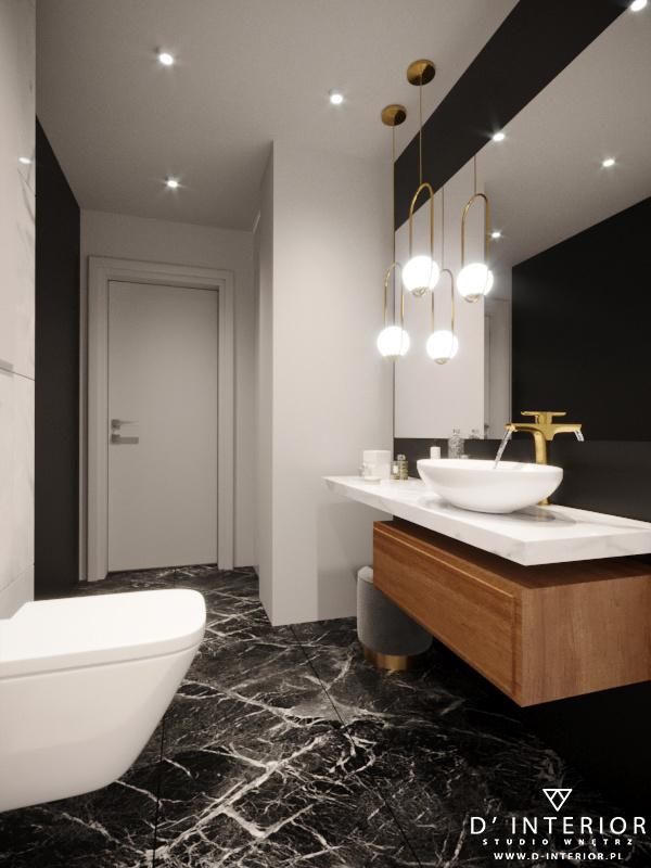 Projekt łazienki glamour