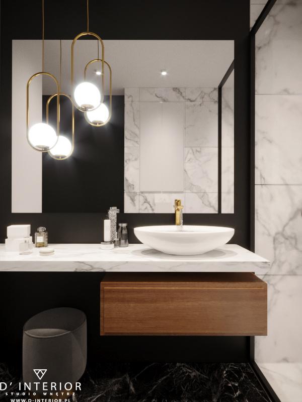 Projekt czarnej łazienki