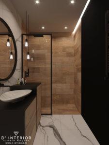 projekt łazienki industrialnej