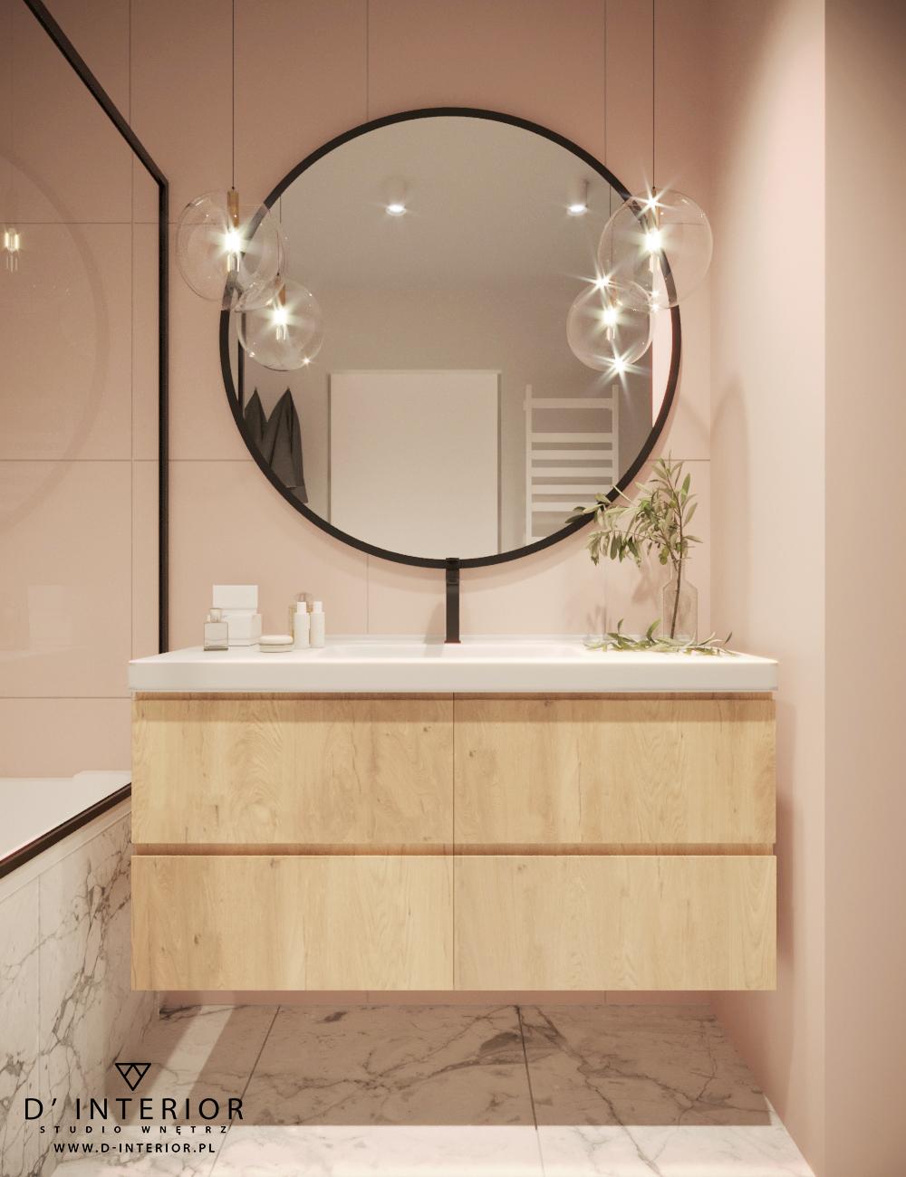Projekt łazienki rozowej