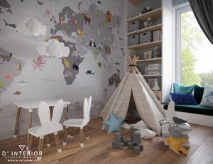 Projekt pokoju dziecięcego Warszawa