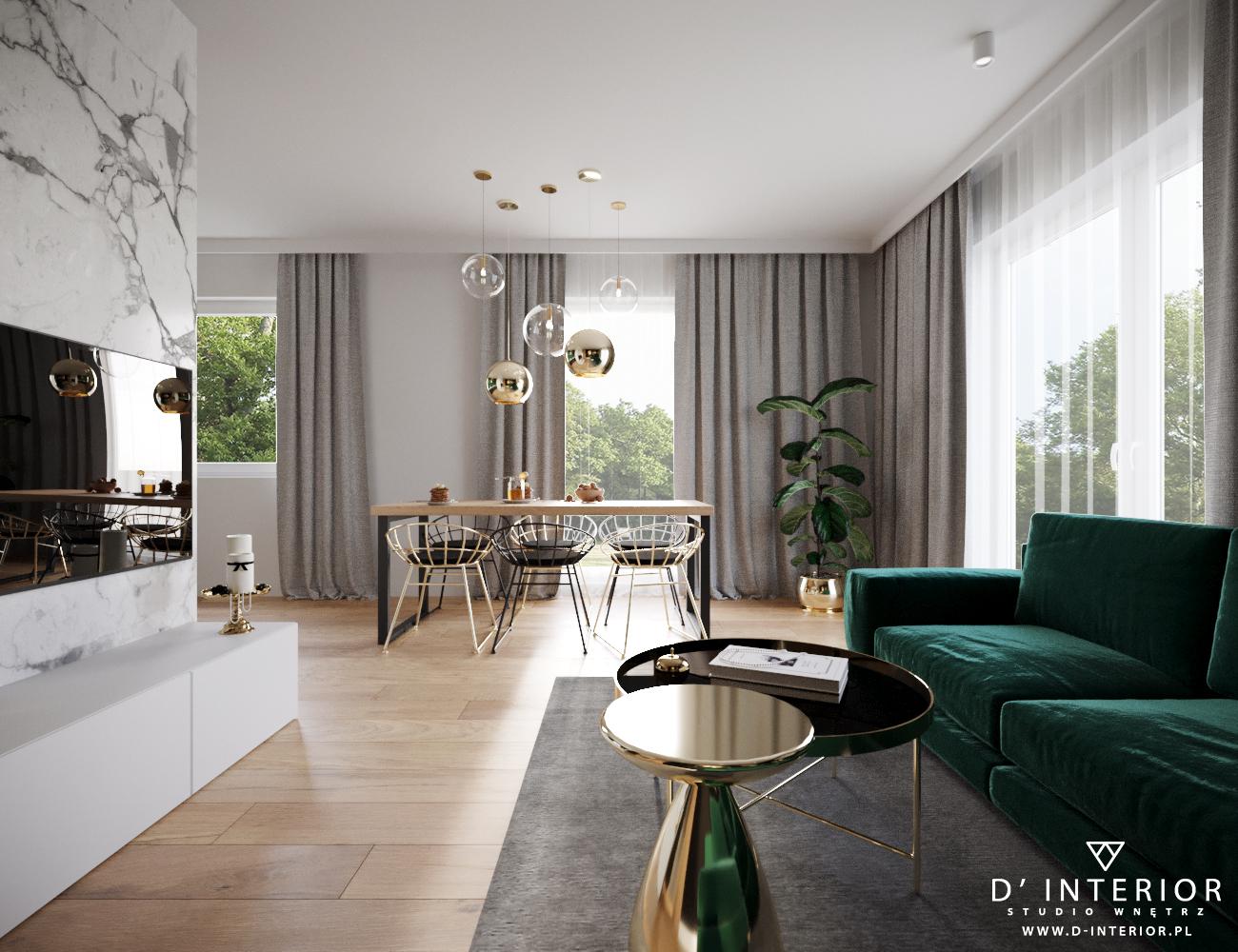 Projekt nowoczesnego salonu