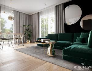 Projekt eleganckiego salonu