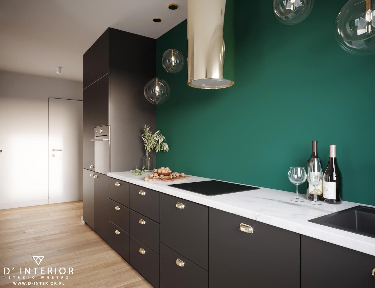 Projekt aneksu kuchennego w zieleni