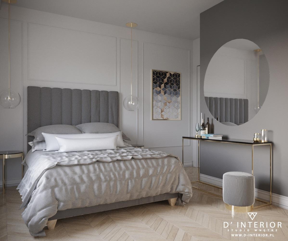 Projekt sypialni w Gdańsku