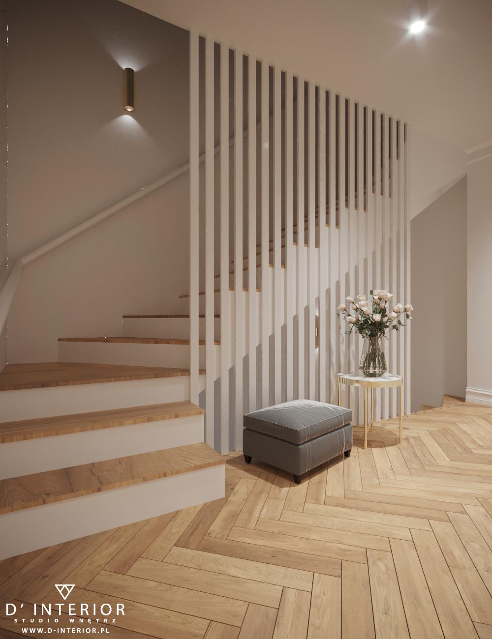 Projekt wnętrza schody