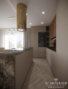 złoty okap w kuchni