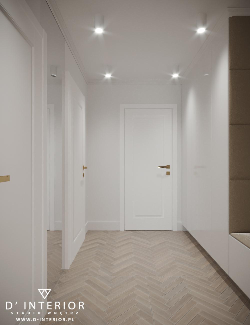 Projekt holu z drzwiami klasycznymi
