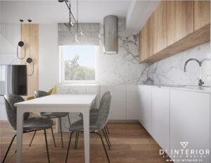 Projekt salonu z kuchnia