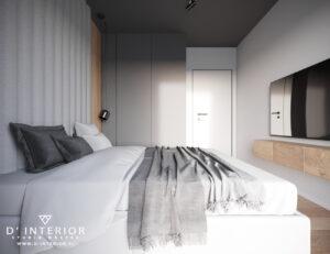 Projekt nowoczesnej sypialni w Gdańsku
