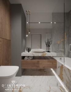 Projekt nowoczesnej łazienki w szarościach