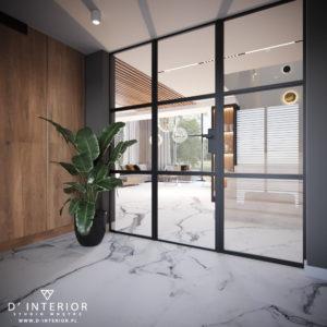 Ścianka loftowa w domu jednorodzinnym