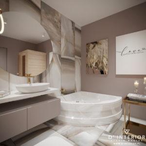 Łazienka z onyksowymi płytkami