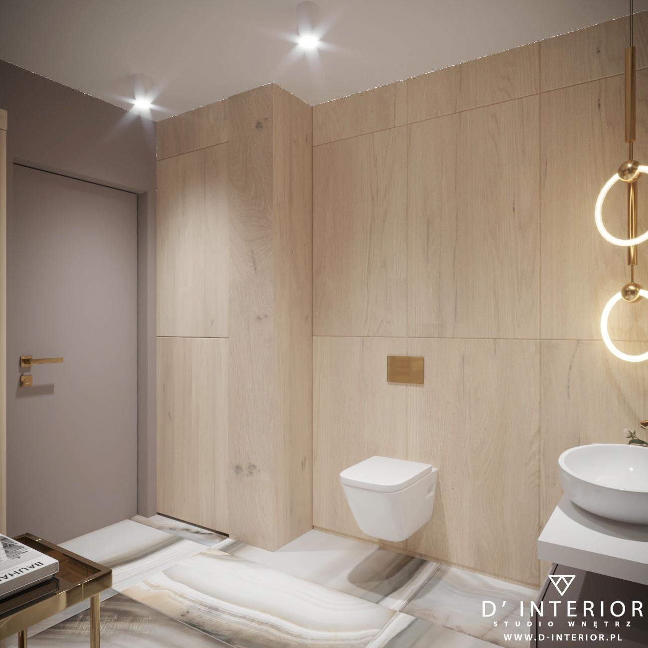 Łazienka w drewnie oraz bezu