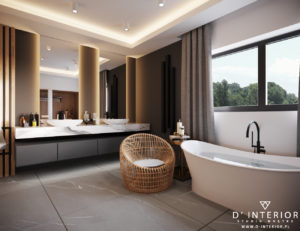 Nowoczesna łazienka w szarym kolorze