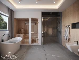 Projekt łazienki z sauną