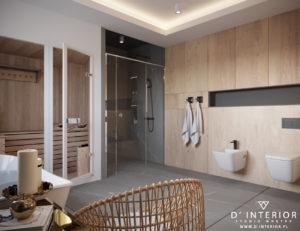 Projekt sauny i prysznica