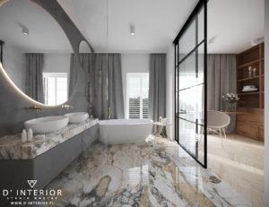 Łazienka z płytkami marmurowymi