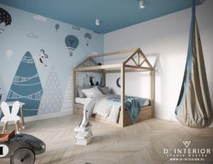 Niebieska sypialnia dla chłopca