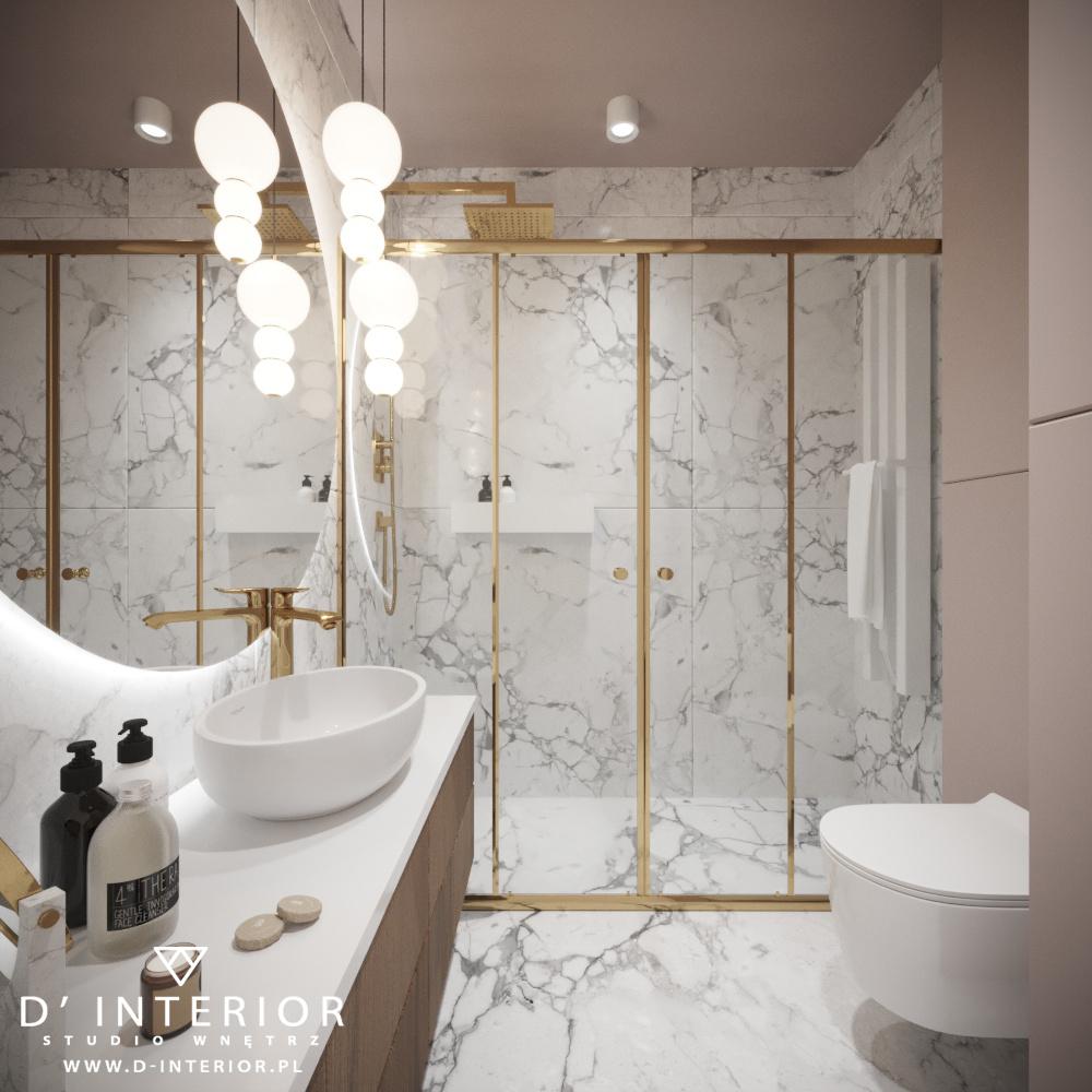 Projekt nowoczesnej łazienki w Gdansku