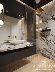 Czarna łazienka w Gdyni
