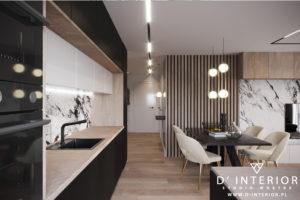 Projekt salonu z aneksem w Gdyni