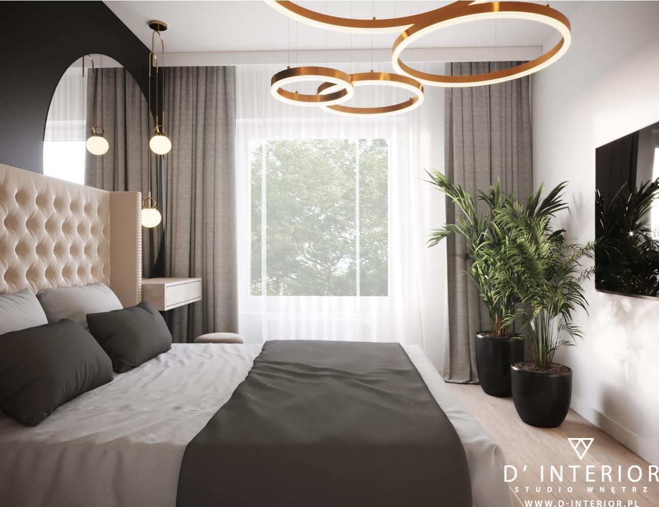 Projekt sypialni w Gdyni Wiczlino