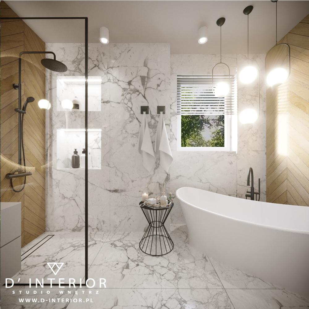Łazienka z prysznicem oraz wanną