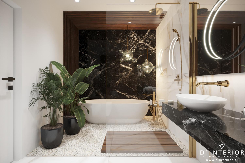 Elegancka łazienka z wanną