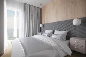 Projekt sypialni na Inwestycji Sol Marina