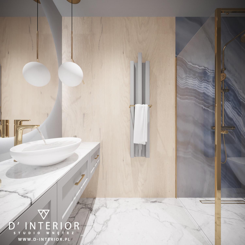 Umywalka nablatowa z nowoczesnej łazienki w Gdańsku