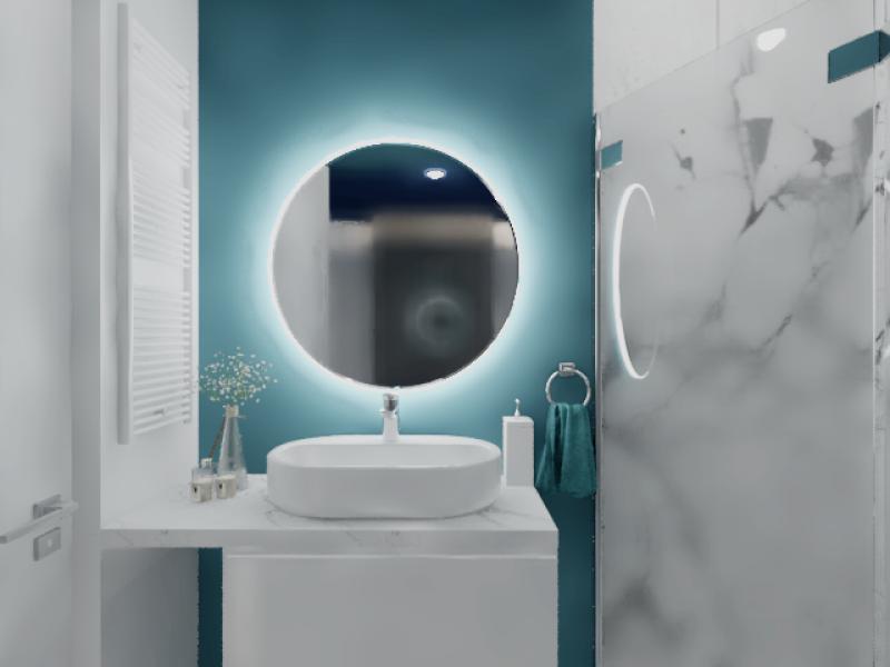 Projekt łazienki w marmurze