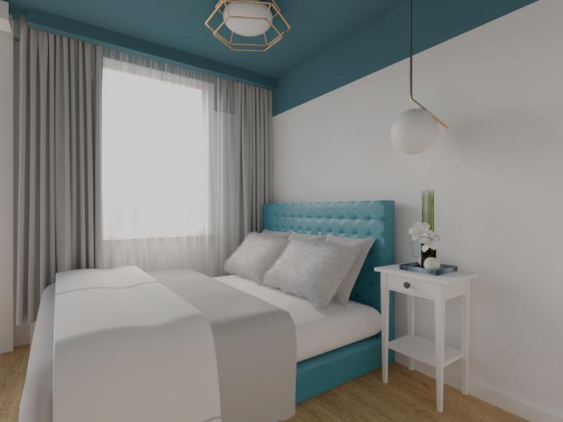 Projekt wnętrza sypialnia Gdynia