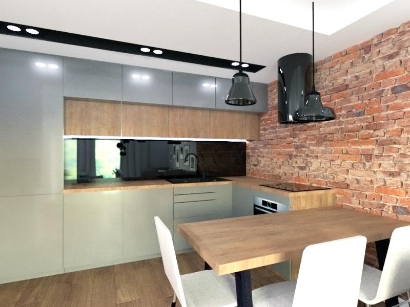 Projekt nowoczesnej szarej kuchni w Gdyni