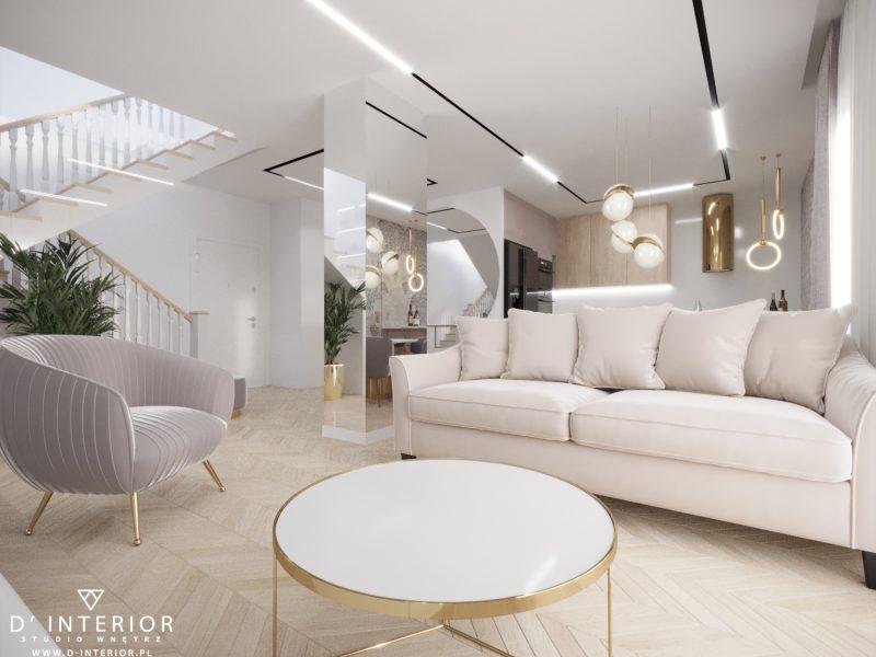 Projekt salonu bezowego