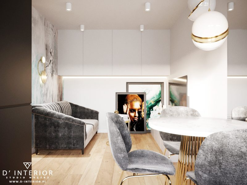 projekt małego salonu