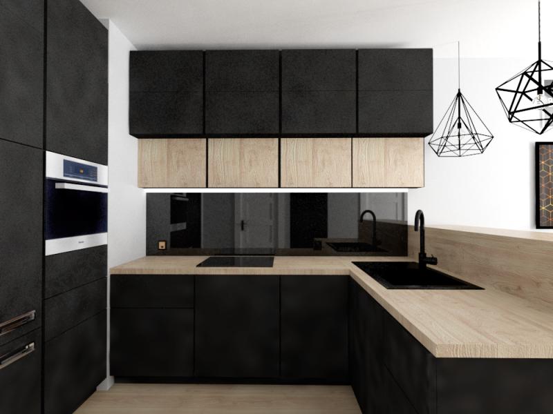 Projekt czarnej kuchni